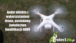 Audyt obiektu z wykorzystaniem drona, posiadamy świadectwo kwalifikacji UAVO