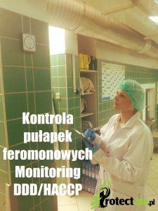 Kontrola pułapek feromonowych - monitoring DDD/HACCP